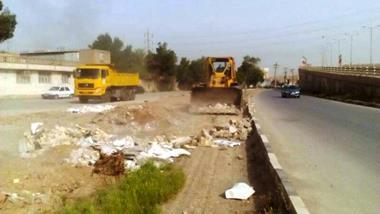 اقدامات واحد امور نواحی شهرداری منطقه چهار در هفته جاری