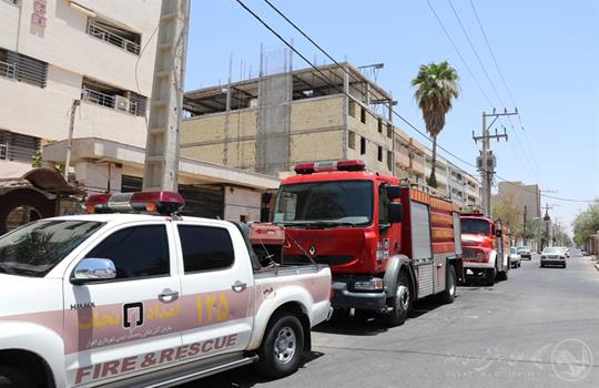 انجام ۱۲عملیات اطفا حریق و پیروزی آتش نشانان بر شعله های حریق